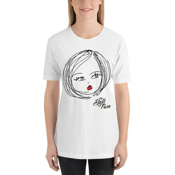 Lulu T-Shirt – White - My Doll Face Art